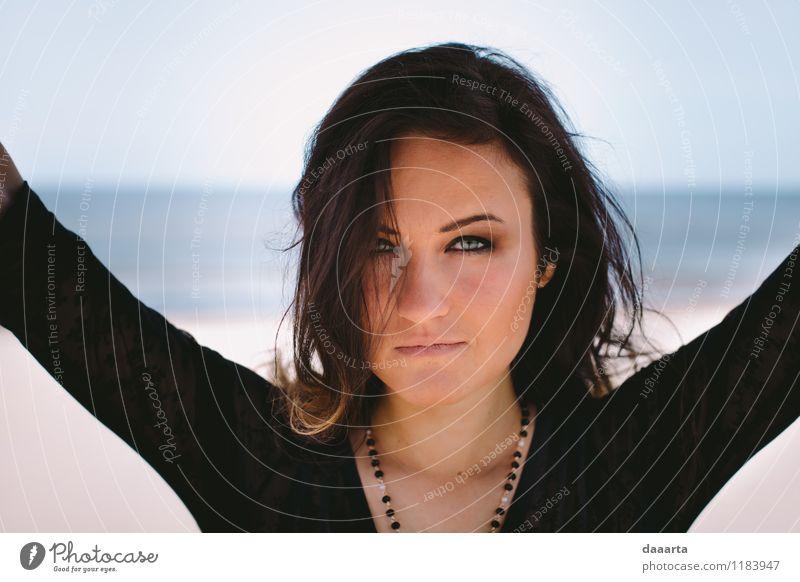 schön Erholung Freude Wärme Leben Gefühle feminin Stil Spielen Stimmung Lifestyle Freizeit & Hobby wild elegant Fröhlichkeit Lächeln