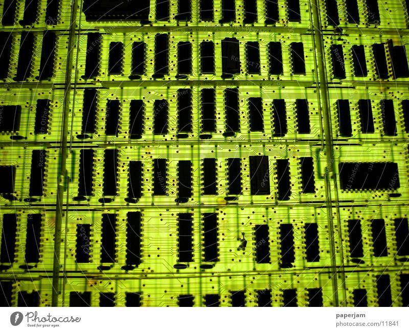GREENCHIPS grün Technik & Technologie Dachboden Mikrochip Platine Elektronik Elektrisches Gerät Leiterbahn