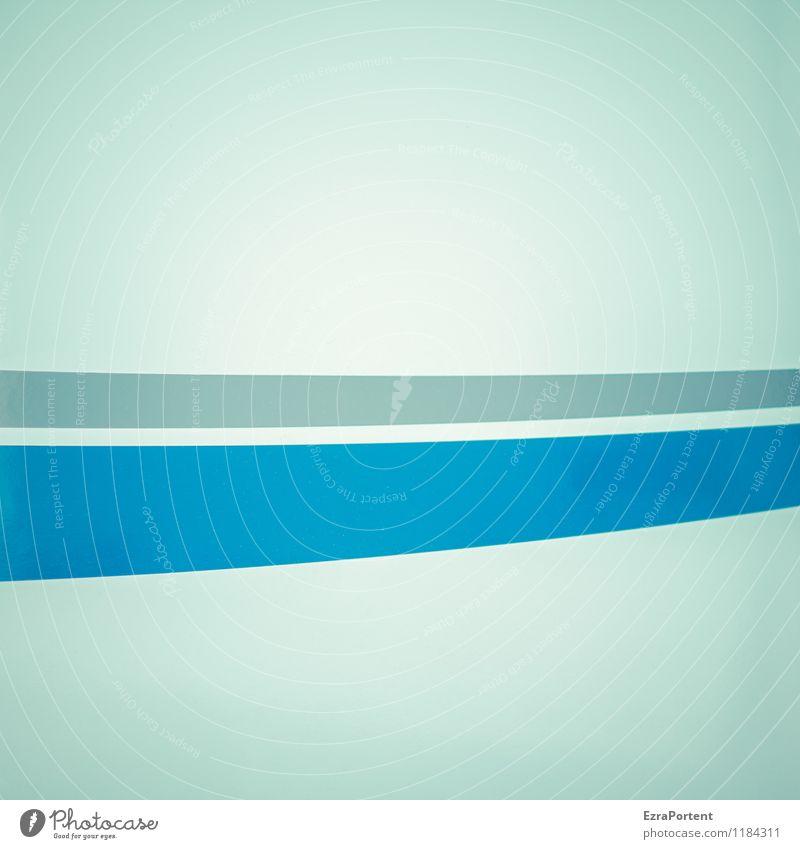 leichter Schwung Kunst Dekoration & Verzierung Metall Linie Streifen ästhetisch hell blau grau weiß Design Farbe Grafik u. Illustration Grafische Darstellung
