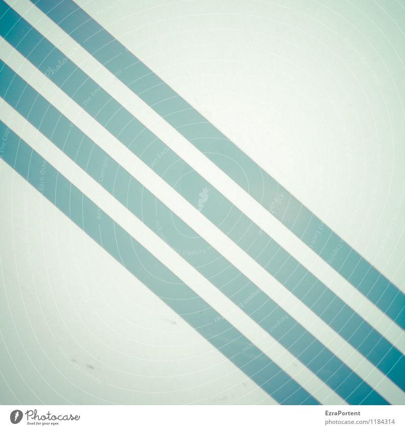 \\\\ Metall Linie Streifen ästhetisch hell blau weiß Design Farbe gerade diagonal Grafik u. Illustration graphisch Grafische Darstellung Geometrie quer