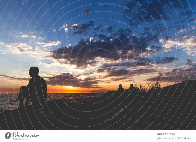 time out Freizeit & Hobby Angeln Ausflug Abenteuer Ferne Freiheit Sommerurlaub Strand Meer Insel Wellen Leben 1 Mensch 3 Landschaft Himmel Wolken Schönes Wetter