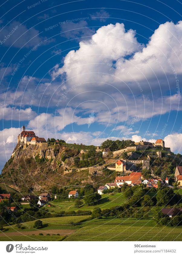 Die Riegersburg Himmel Ferien & Urlaub & Reisen Sommer Landschaft Sonne Haus Wolken Ferne Wald Berge u. Gebirge Frühling Wiese Gras Garten Tourismus Freiheit