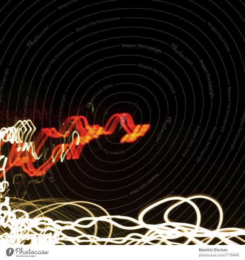 Autobahn II Farbe rot Freude Traurigkeit Beleuchtung Hintergrundbild Lampe Linie orange glänzend PKW leuchten Erde hoch Geschwindigkeit Kreis