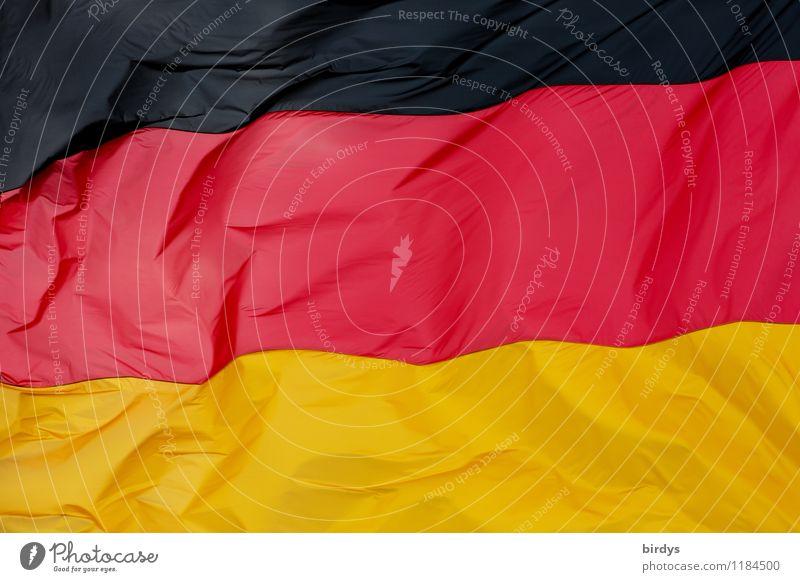 Hambacher Fest 1832 Deutsche Flagge Zeichen Fahne ästhetisch authentisch elegant groß gold rot schwarz Einigkeit Farbe Identität Politik & Staat Nationalflagge
