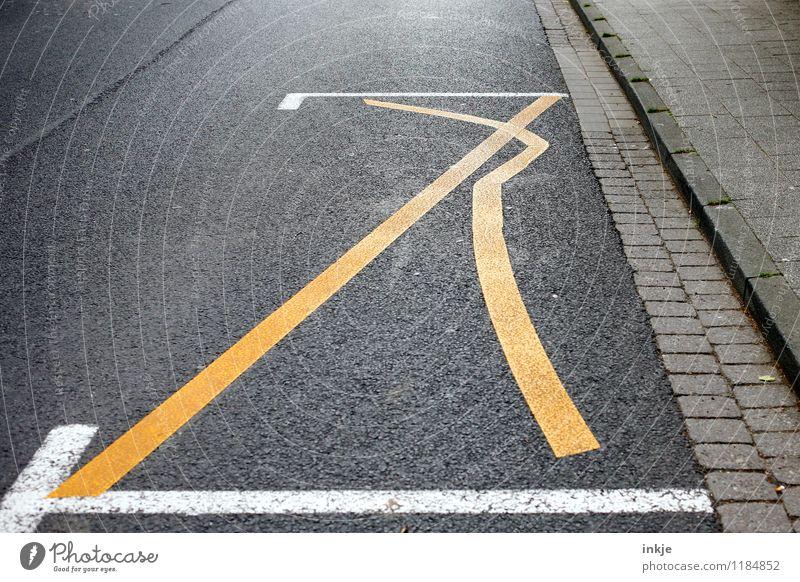 urban dancefloor gelb Straße außergewöhnlich Linie Arbeit & Erwerbstätigkeit Schilder & Markierungen Verkehr Idee Streifen einzigartig Zeichen Baustelle Neigung