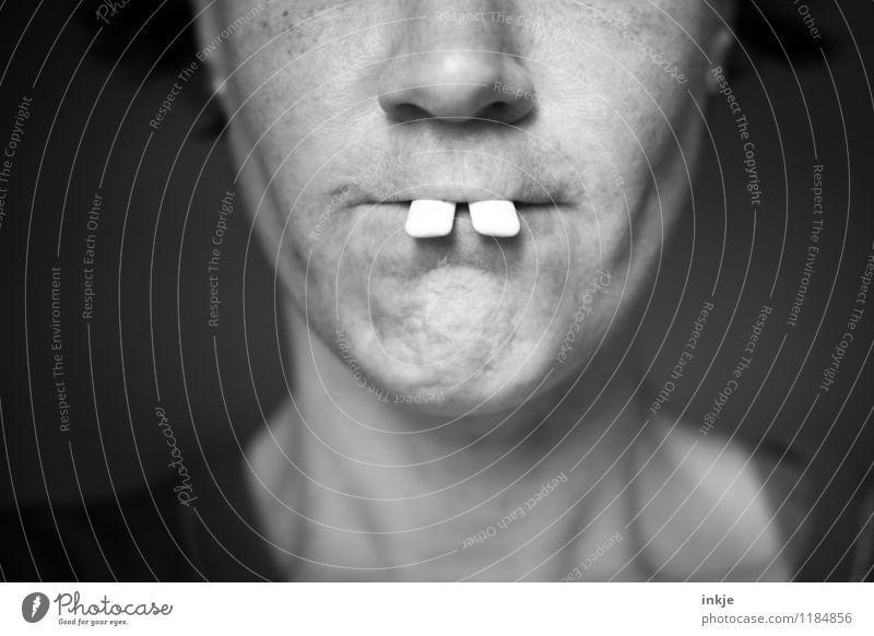 Hasi lebt!! Lifestyle Freude schön Zahnlücke Zahnfehlstellung Frau Erwachsene Leben Gesicht Mund Zähne 1 Mensch 30-45 Jahre Hasenzahn Freundlichkeit lustig
