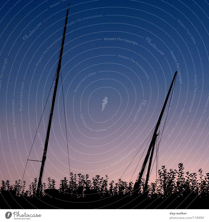 Wenn ein Schiff vorüberfährt Wasserfahrzeug See Hecke Dämmerung Nacht dunkel schwarz rot Freizeit & Hobby Himmelskörper & Weltall Strommast Seil sonnuntergang
