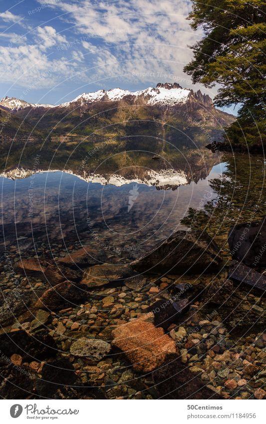 Los siete lagos en Argentina Himmel Ferien & Urlaub & Reisen Landschaft Baum Erholung Wolken ruhig Winter Ferne Berge u. Gebirge Schnee Zeit Tourismus Freiheit