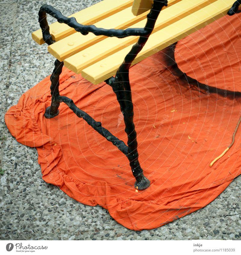 Sommer ! Lifestyle Stil Freizeit & Hobby heimwerken Häusliches Leben Renovieren Gartenbank Bank Handwerk Farbstoff Abdeckung Malerplane frisch einzigartig schön