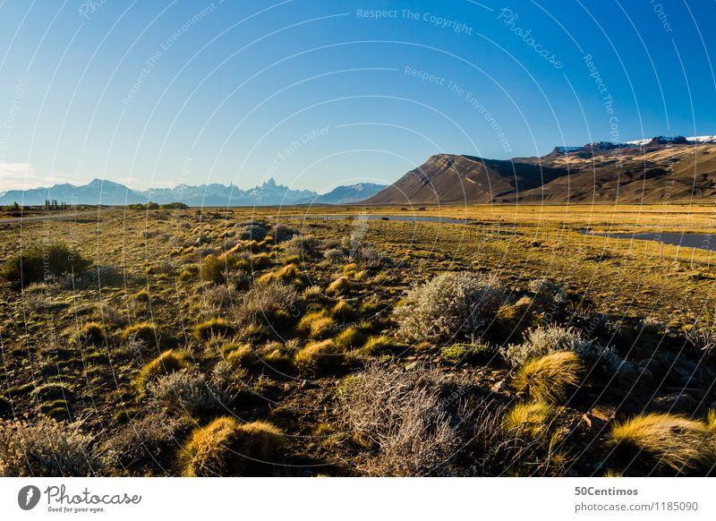 what a beautiful day in the south of Patagonia in Argentina Ferien & Urlaub & Reisen Tourismus Ausflug Abenteuer Ferne Freiheit Sommer Berge u. Gebirge wandern