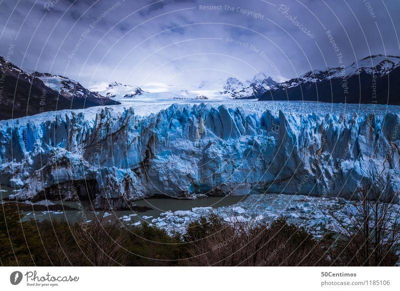 Perito Moreno Natur Ferien & Urlaub & Reisen Landschaft Ferne Winter Berge u. Gebirge Leben Schnee Freiheit Tourismus Horizont Eis wandern Ausflug Klima