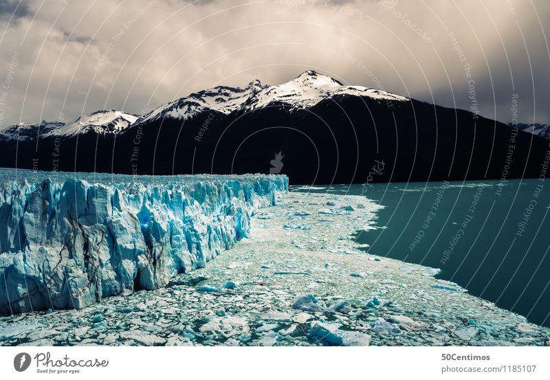 Perito Moreno in Patagonien Natur Landschaft Ferne Winter Berge u. Gebirge Leben Küste Schnee Tourismus Eis Ausflug Wind Abenteuer Gipfel Frost Schneebedeckte Gipfel