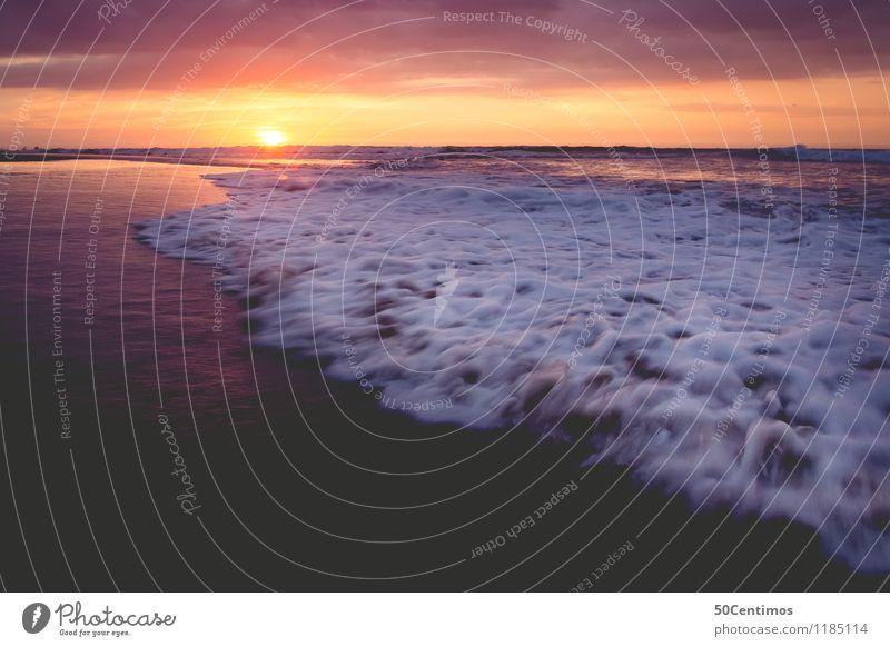 Waves in the Sunset Ferien & Urlaub & Reisen Tourismus Ausflug Abenteuer Ferne Freiheit Sommer Sommerurlaub Sonne Sonnenbad Strand Meer Insel Wellen Landschaft