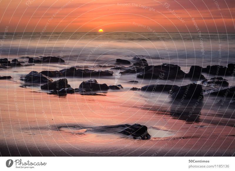 Sunset in the ocean Natur Ferien & Urlaub & Reisen Sommer Sonne Meer Landschaft ruhig Ferne Strand Umwelt Freiheit Erde Horizont Tourismus Wellen Ausflug