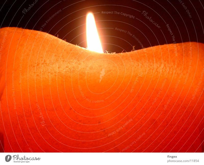im Kerzenschein Nacht Romantik Licht Makroaufnahme Nahaufnahme