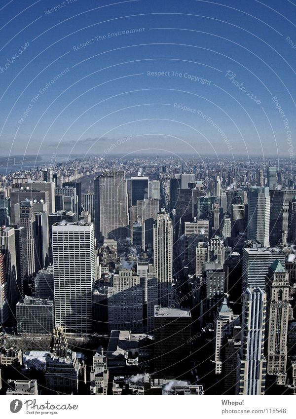 I Love New York Himmel blau kalt Architektur Hochhaus Coolness fantastisch New York City