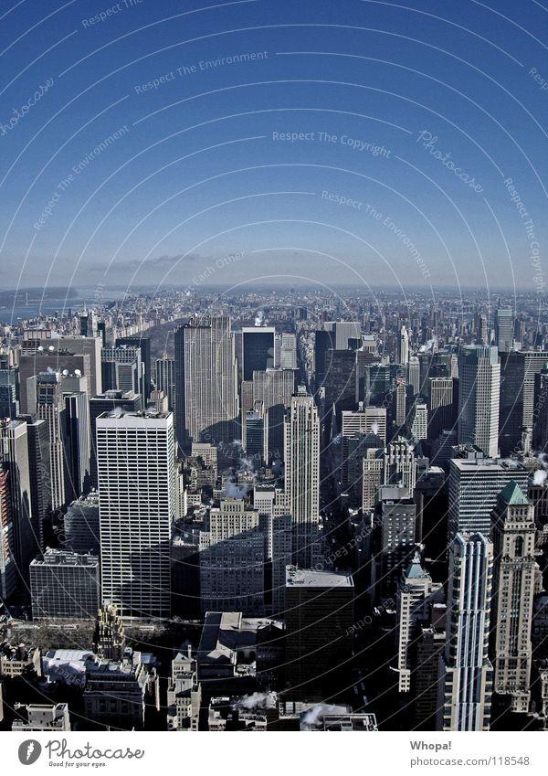 I Love New York New York City Hochhaus kalt Architektur Big Appple Himmel blau Coolness saucool verdammt cool fantastisch Stadt