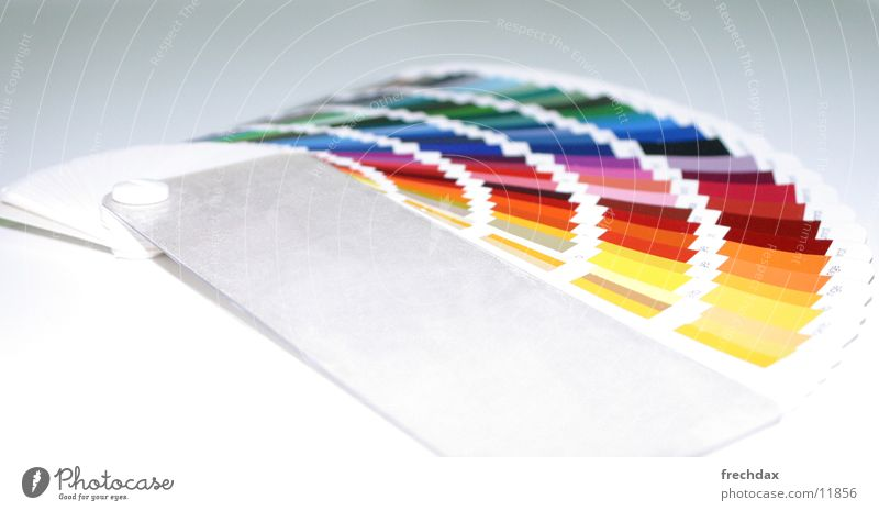 Farbfächer Fächer Farbselektion Auswahl Beschriftung Atelier RAL Farbe Grafik u. Illustration Werbung