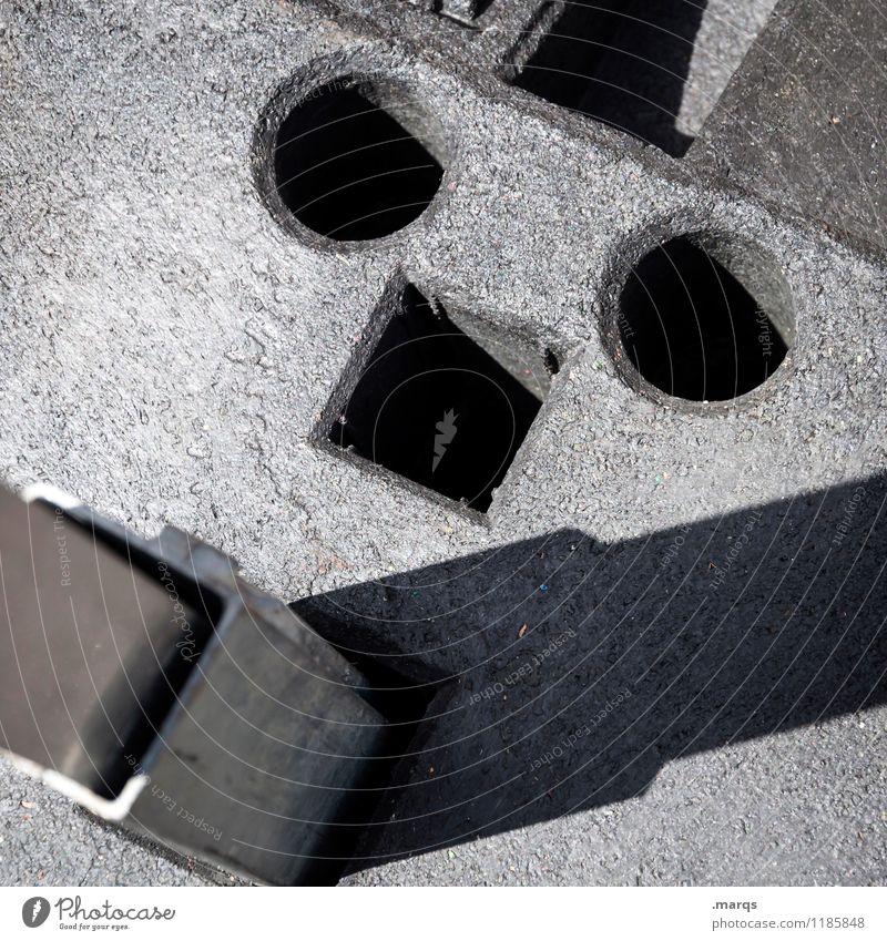 Raucher Gesicht lustig außergewöhnlich Kreativität einfach Baustelle Kunststoff skurril