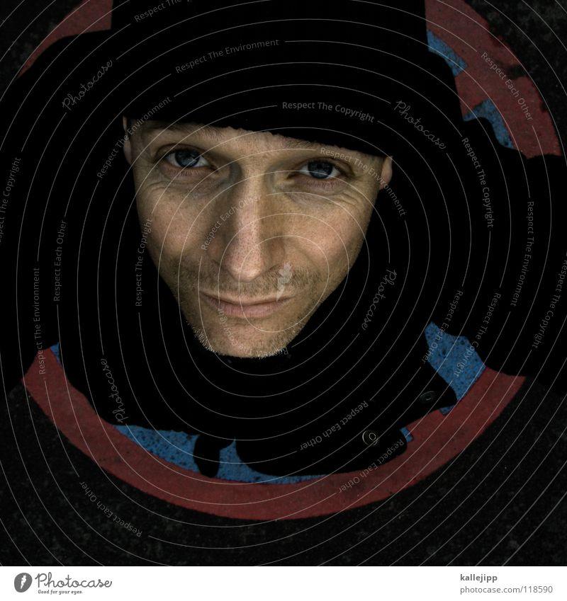 von kopf... Mensch Mann blau Hand rot schwarz Gesicht Auge kalt Leben Haare & Frisuren Schilder & Markierungen Haut stehen Kreis Zeichen