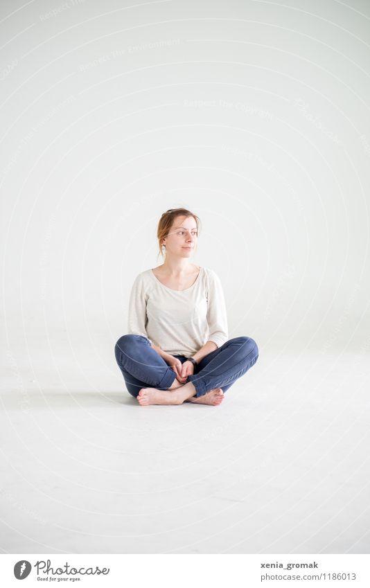 Pause Mensch Jugendliche schön Junge Frau Erholung ruhig Gesunde Ernährung Leben Gesundheit Lifestyle Zufriedenheit Freizeit & Hobby Körper Erfolg Fitness Wellness