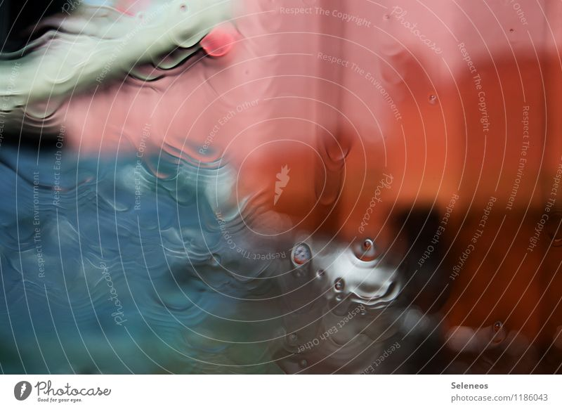 watercolour Wasser Wassertropfen Regen Flüssigkeit frisch nah nass Farbfoto Experiment abstrakt Muster Strukturen & Formen