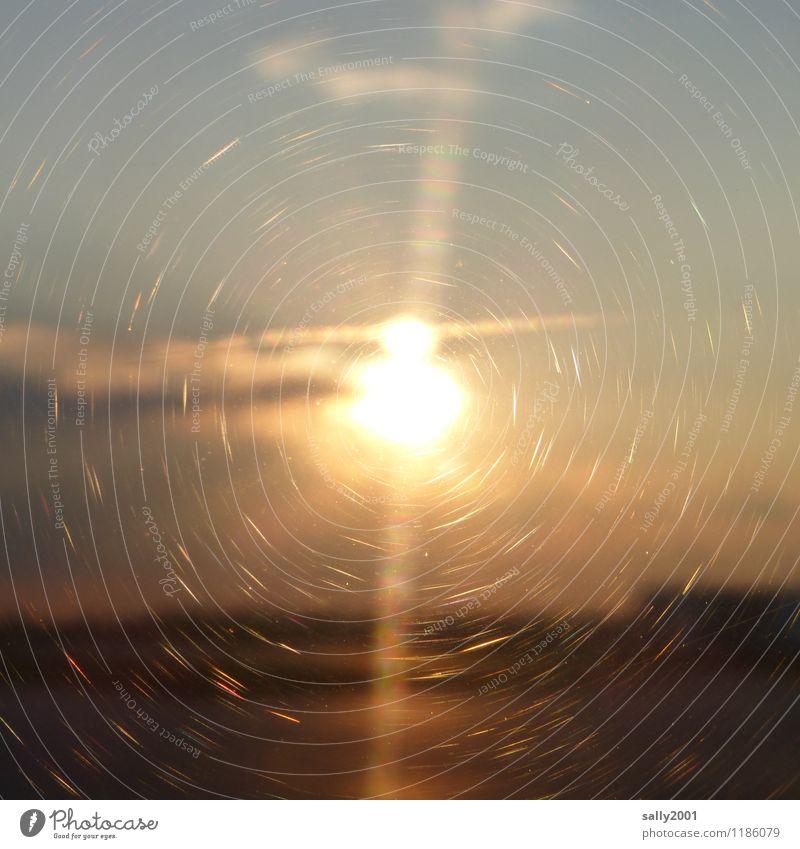 im Rampenlicht   großer Scheinwerfer... Sonnenaufgang Sonnenuntergang Sonnenlicht Schönes Wetter glänzend leuchten fantastisch Ferne rund gold Romantik Hoffnung