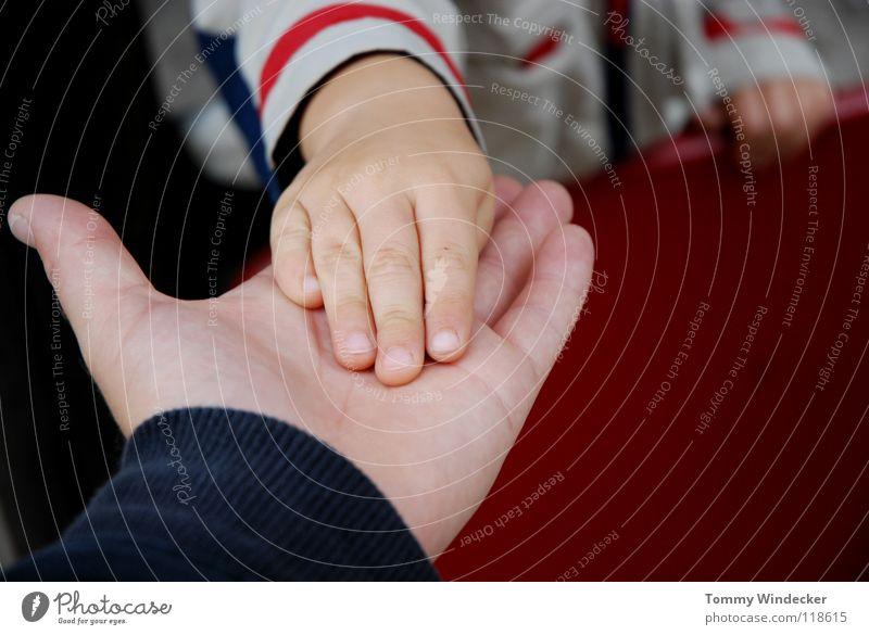 Vertrauen oder Missbrauch? Kind Hand Mädchen Liebe Junge Traurigkeit Familie & Verwandtschaft Freundschaft Angst Finger Hilfsbereitschaft Sicherheit gut