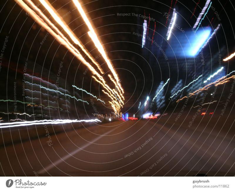 rollin Nacht Licht Geschwindigkeit Verkehr Straße