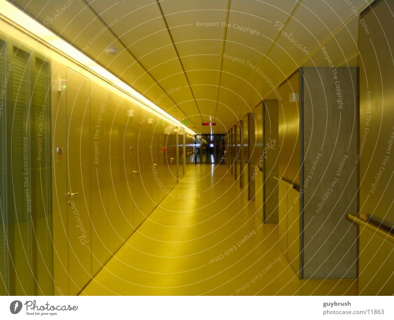 corridor gelb Architektur Krankenhaus Flur