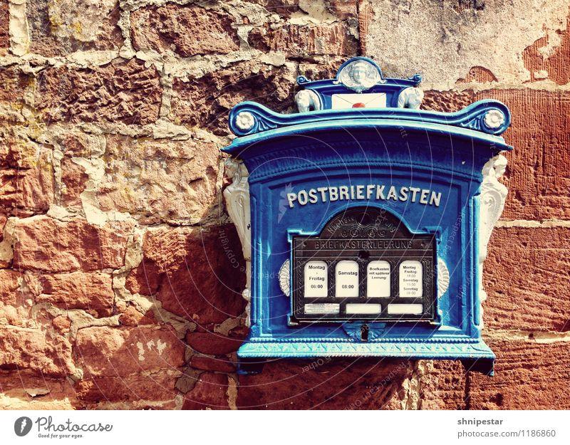 Schreib' mal wieder … alt Wand Mauer Zukunft lesen Güterverkehr & Logistik Postkarte Burg oder Schloss schreiben Beruf Medien Wirtschaft Dienstleistungsgewerbe