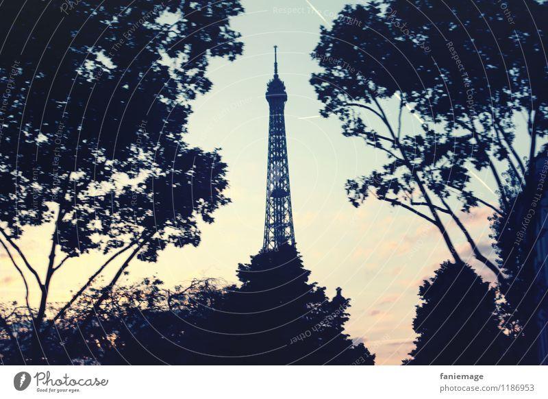 Paris, Baby! blau Himmel (Jenseits) schön Baum Reisefotografie rosa Tourismus Sträucher Aussicht Ausflug einzigartig Romantik Turm Wahrzeichen Mitte Denkmal