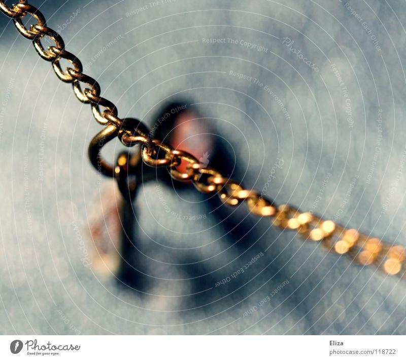 . schön alt blau Lampe Stein glänzend Gold elegant gold Brücke Reichtum Schmuck Kette edel schick Glamour