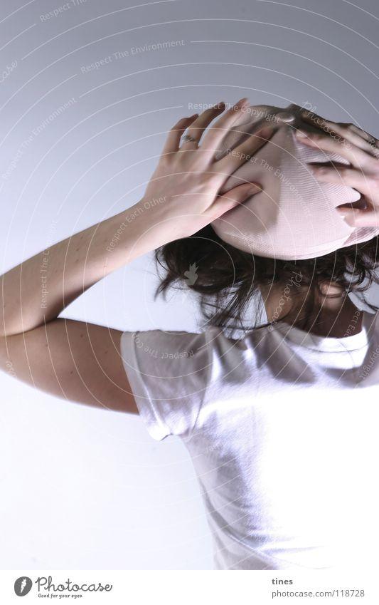 Kopfdruck Hand schön Haare & Frisuren Tanzen rosa fallen Hut drehen Bekleidung Kopfschmerzen