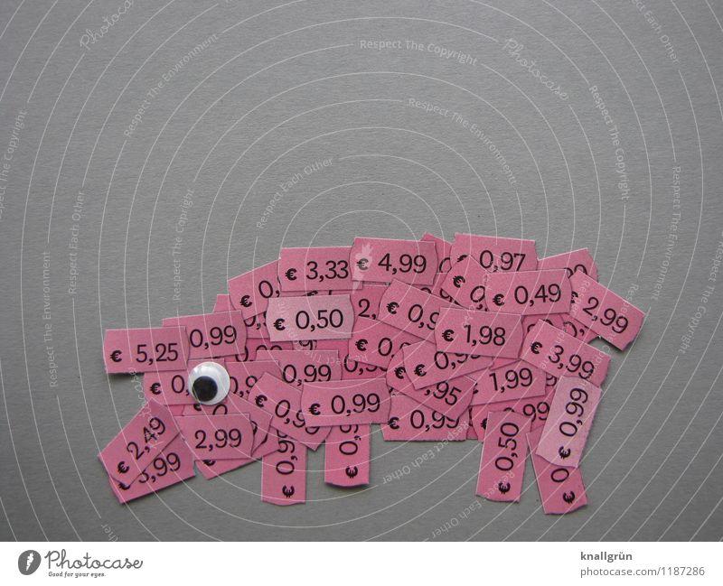 Billigfleisch Tier schwarz Gefühle grau Stimmung rosa Schilder & Markierungen Kommunizieren kaufen Ziffern & Zahlen Geld Appetit & Hunger Handel Reichtum
