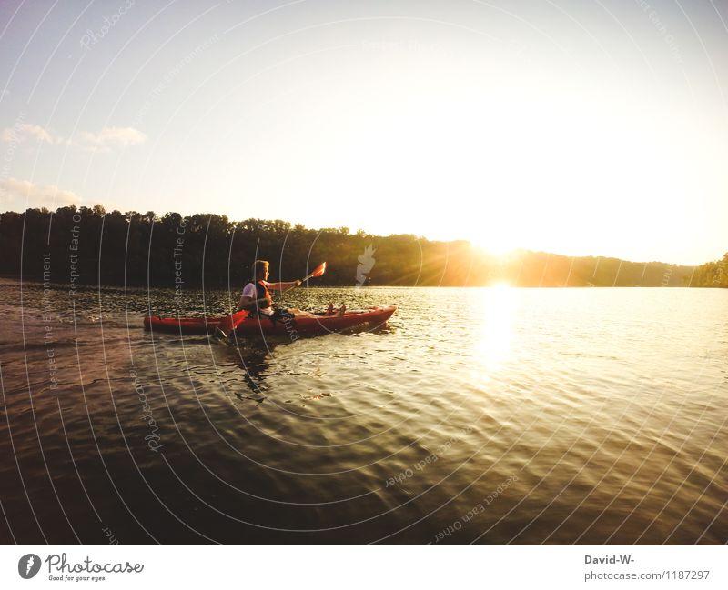 Das Abenteuer beginnt Mensch Natur Ferien & Urlaub & Reisen Jugendliche Sommer Sonne Junger Mann ruhig Freude Ferne Erwachsene Leben Sport Glück Freiheit