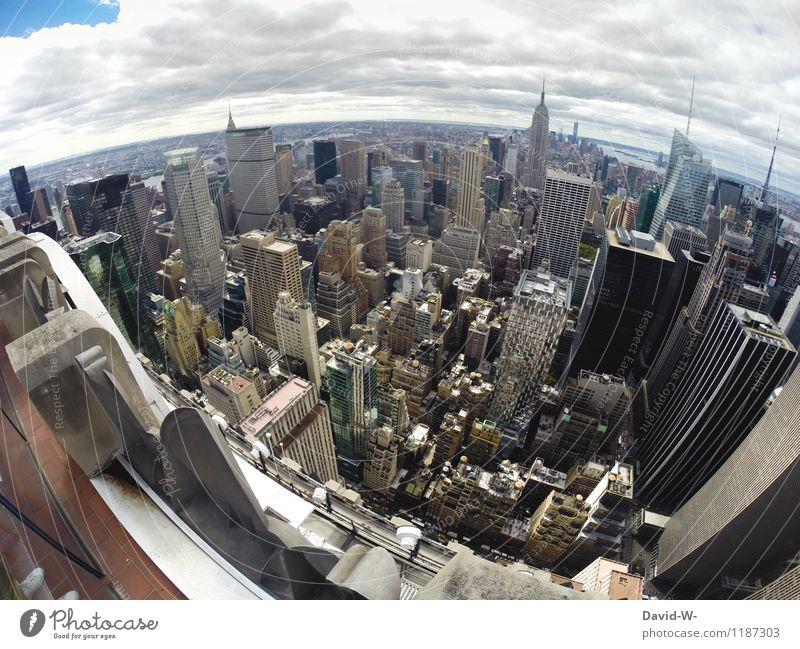 New York von oben Reichtum Tourismus Abenteuer Städtereise Sommerurlaub Wirtschaft Business Karriere Stadt Hauptstadt Stadtzentrum Skyline überbevölkert