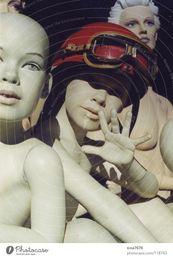 Hola Chica! Mensch Hand rot nackt Tod Dekoration & Verzierung Puppe Brille Helm Gruß Schaufensterpuppe Fliegerbrille