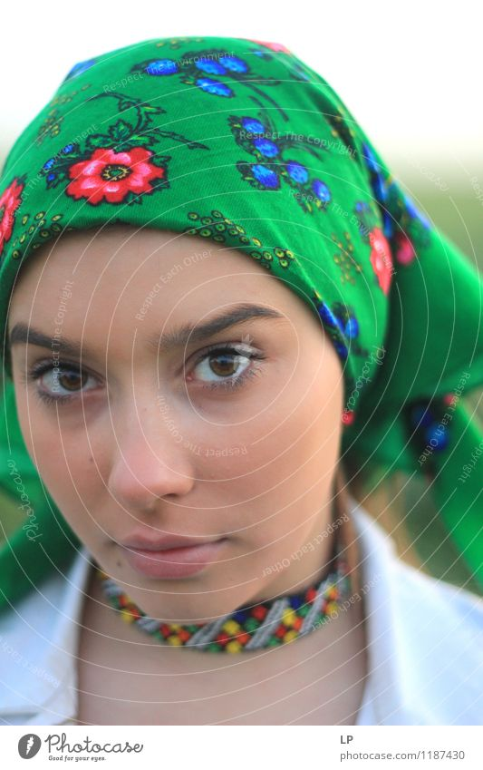 Mensch Jugendliche schön Junge Frau ruhig Freude Gesicht Leben feminin Stil Spielen Gesundheit Lifestyle Kopf Mode Kunst
