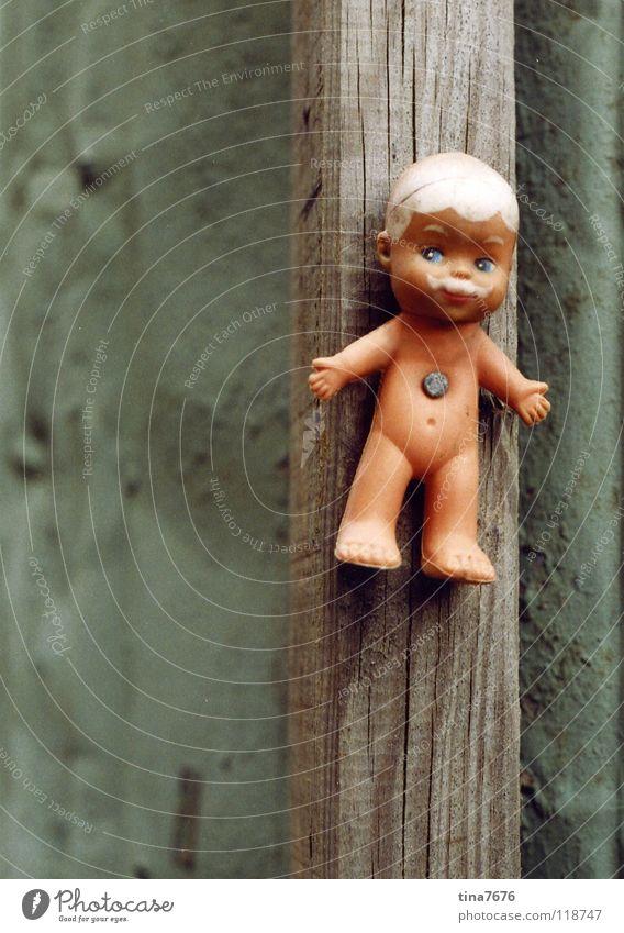 Verflixt und angenagelt maskulin Nagel fixieren Müdigkeit Oberlippenbart obskur Puppe Pfosten ergeben Märtyrer