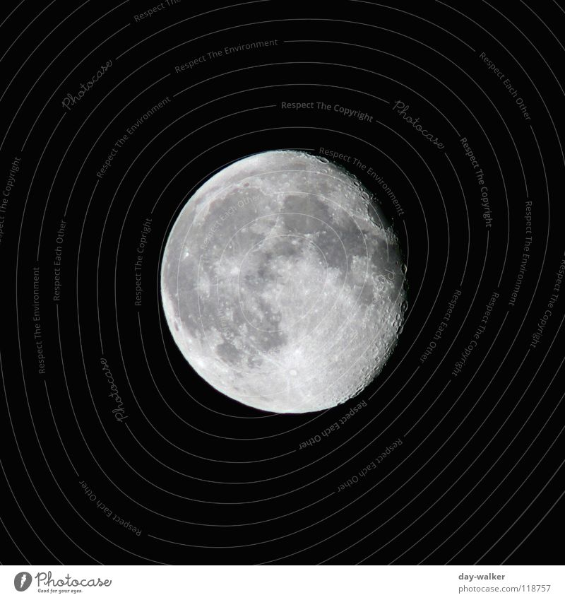 Anziehungspunkt Ferne dunkel hell Kreis rund Weltall Mond Oberfläche Planet Zoomeffekt Schwarzweißfoto Astronomie Astrologie Oberflächenstruktur Mondlandschaft Mondsüchtig