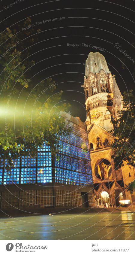 Friedenskirche Kurfürstendamm Nacht Langzeitbelichtung Licht Gotteshäuser Religion & Glaube Berlin