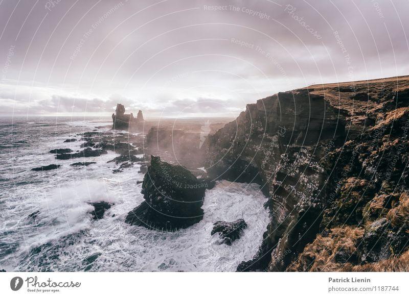 Wilde Küste Himmel Natur Ferien & Urlaub & Reisen Wasser Erholung Meer Landschaft ruhig Wolken Ferne Strand Umwelt Freiheit Zufriedenheit Luft