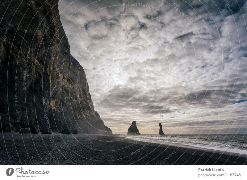 Morgenland Himmel Natur Ferien & Urlaub & Reisen Erholung Meer Landschaft ruhig Wolken Ferne Strand Umwelt Küste Freiheit Felsen Zufriedenheit Wetter