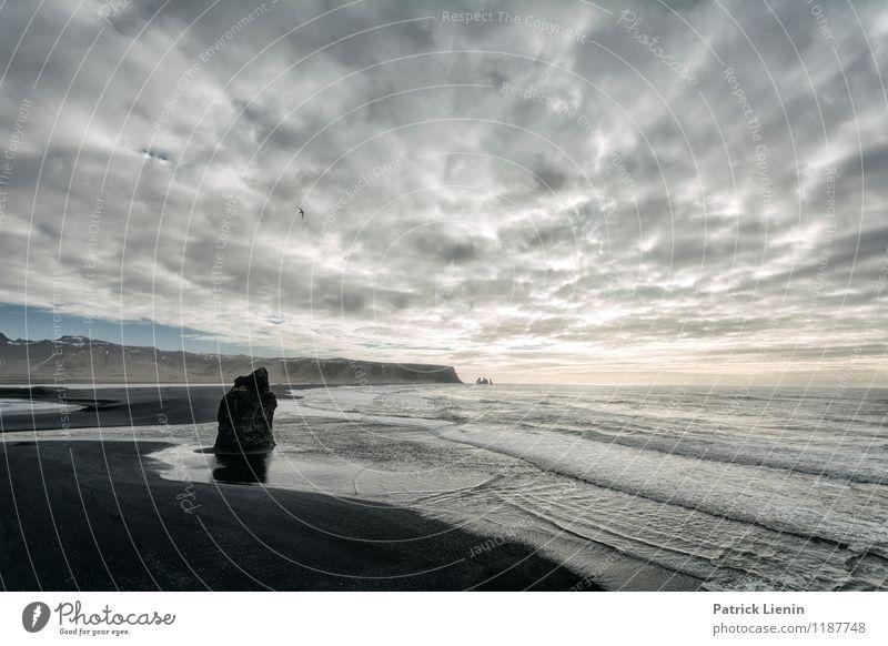 Sky Meets Ocean Natur Ferien & Urlaub & Reisen Erholung Meer Landschaft ruhig Ferne Strand Umwelt Berge u. Gebirge Küste Freiheit Stimmung Felsen Zufriedenheit