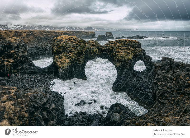 Nature's Paradise Ferien & Urlaub & Reisen Erholung Meer ruhig Ferne Strand Umwelt Küste Freiheit Felsen Zufriedenheit Wetter Wellen Wind Insel