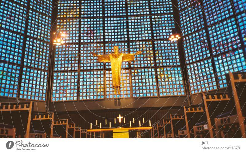 Kirche Jesus Christus Langzeitbelichtung historisch Religion & Glaube blau Berlin Friedenskirche