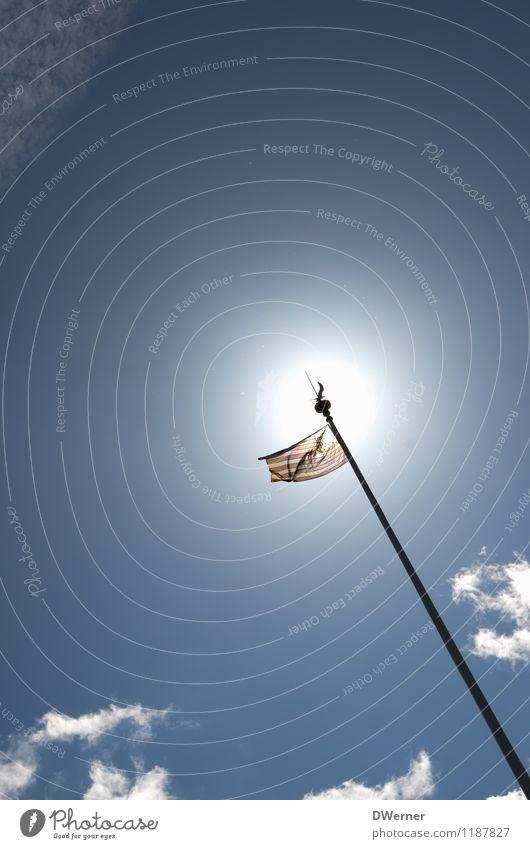 USA Himmel blau Linie Kunst Dekoration & Verzierung Schilder & Markierungen Erfolg Hinweisschild Streifen Zeichen Macht Fahne Wahrzeichen Sammlung Amerika