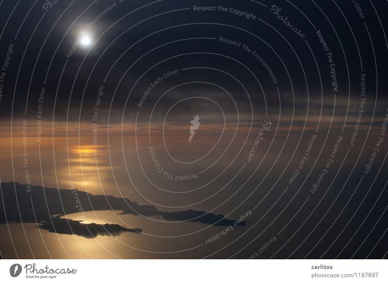 PMI-HAJ / 14A SEATING fliegen Luftverkehr Flugzeug Fensterplatz Aussicht Mittelmeer Insel Sonne Sonnenuntergang Wolken Gegenlicht Reflexion & Spiegelung