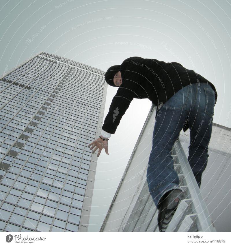 hillary step Motte springen Dieb Einbruch Kriminalität fallen Suizidalität Dummkopf Parkhaus Blick Hochhaus Kapitän Lampe Aussicht Navigation Richtung See Luft